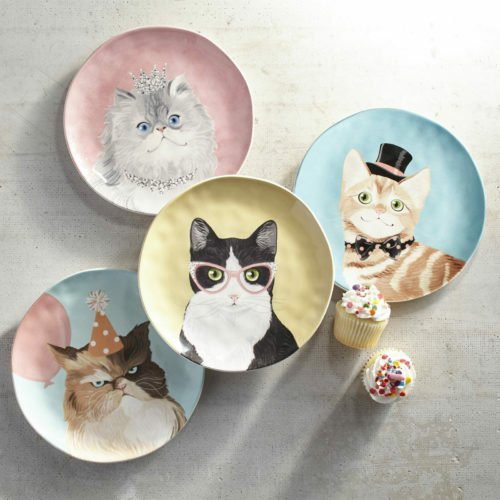 gifts for cat lovers plates