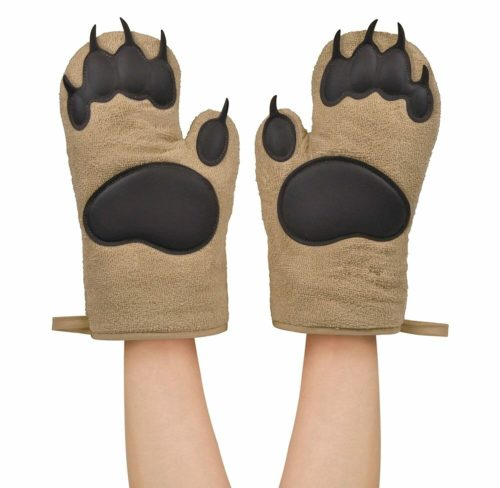 white elephant gifts bear oven mitts