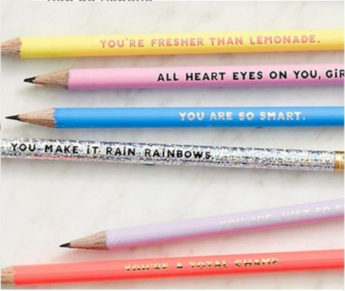 going away gifts compliment pencils
