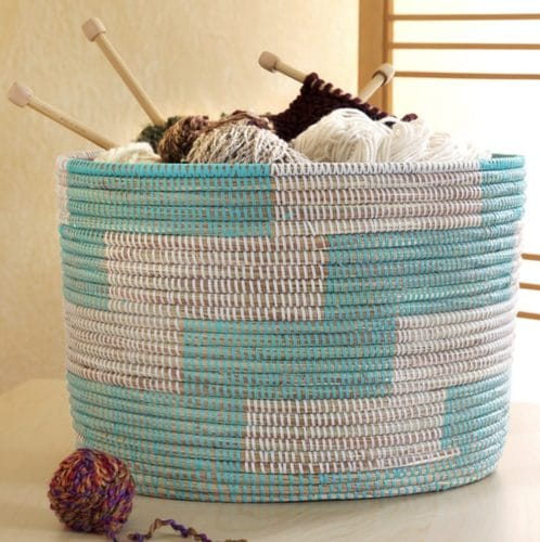 gifts for knitters yarn basket