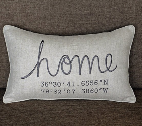 gifts for inlaws coordinates pillow