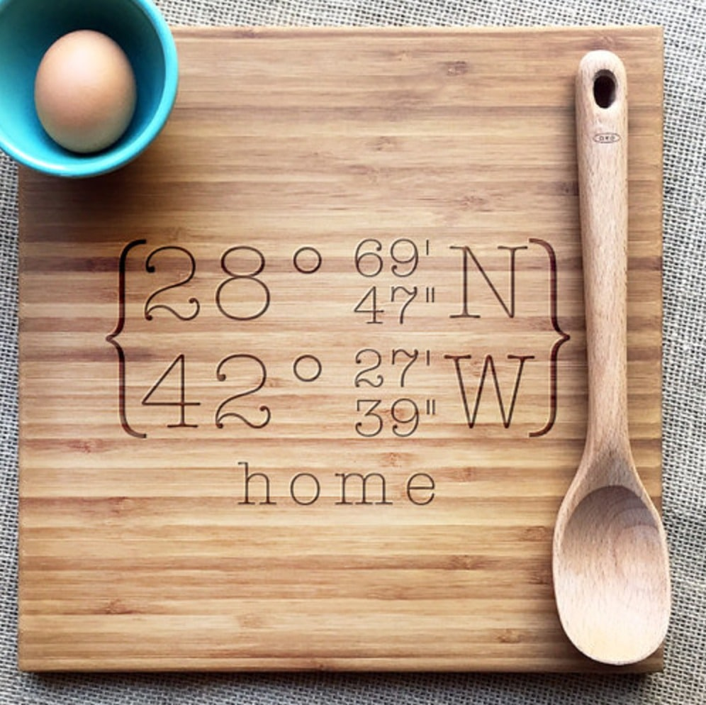 gifts for sister cutting board