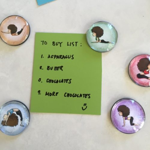 yoga gifts magnets