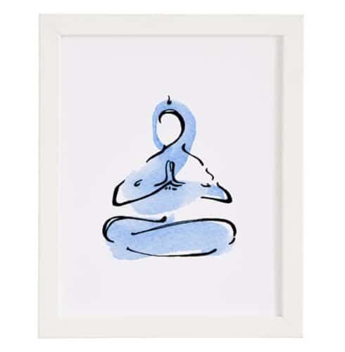 yoga gifts wall art