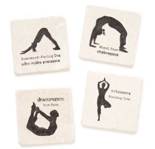 yoga gifts coasters