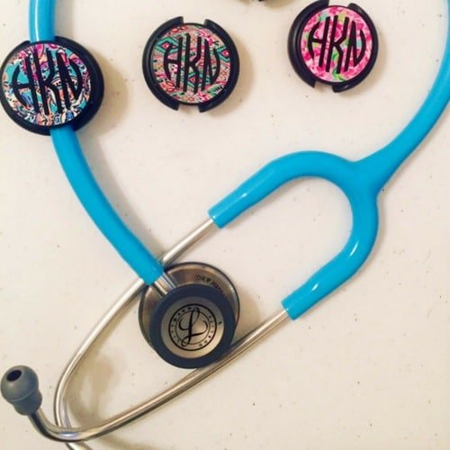 gifts for nurses stethoscope tag