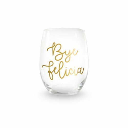 going away gifts for her bye felica wine glass