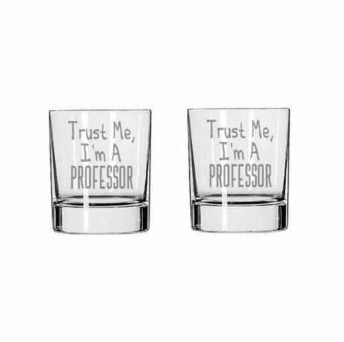 gift for professors glass set
