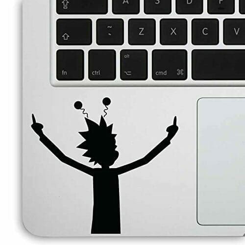 rick and morty merchandise laptop decal