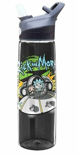 rick and morty merchandise water bottle
