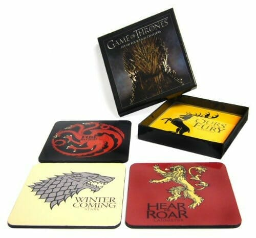 game of thrones gifts coasters