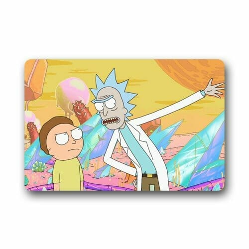 rick and morty merchandise doormat