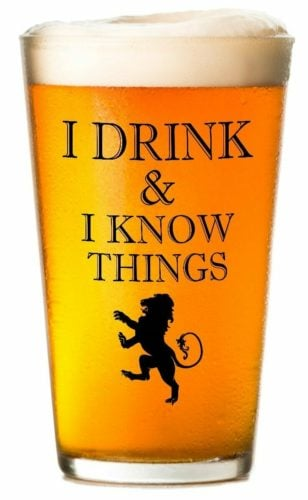 game of thrones gifts pint glass