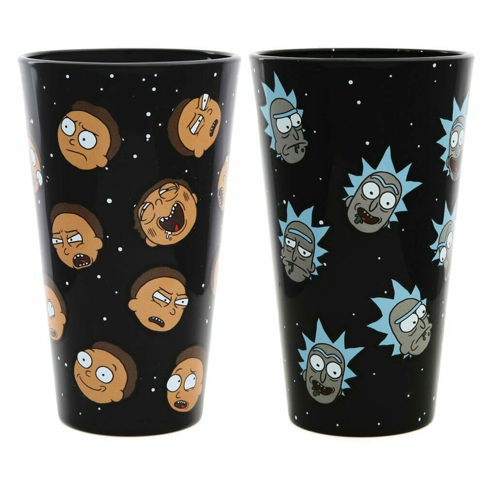 rick and morty merchandise pint glasses