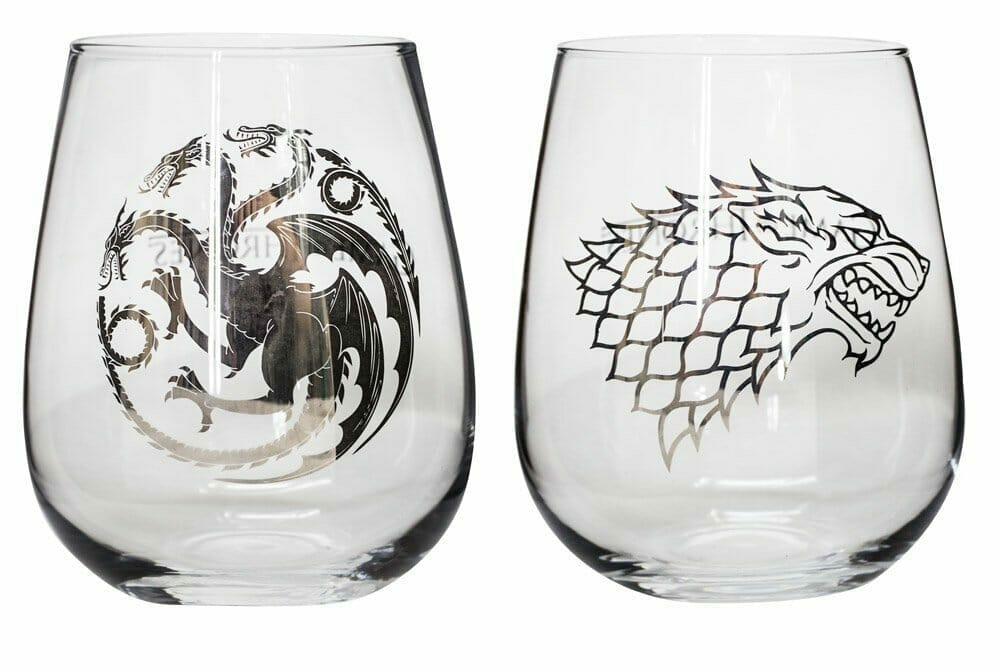 game of thrones gifts wine glasses