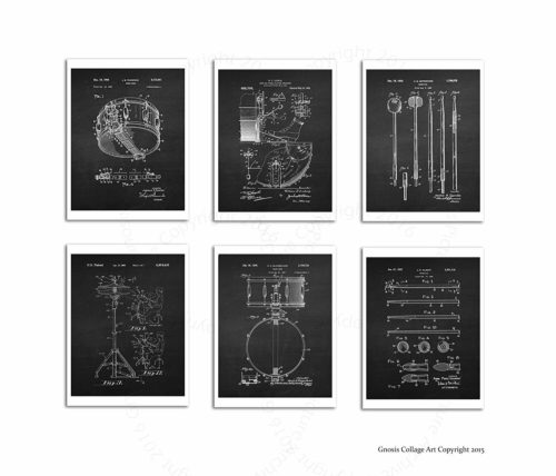 gifts for drummers wall art