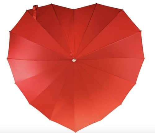 cheap bridesmaid gifts heart umbrella