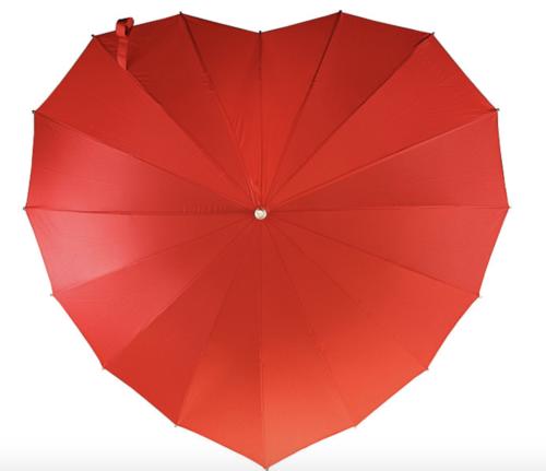 cheap bridesmaid gifts heart umbrella