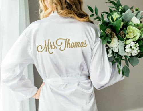 bachelorette gift ideas robe