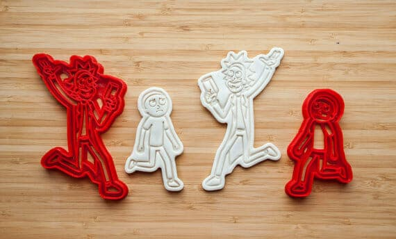 rick and morty merchandise cookie cutter