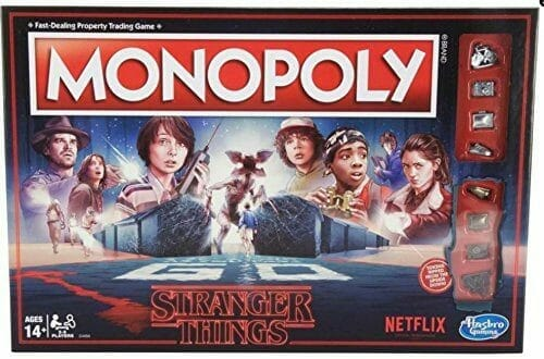 stranger things merchandise gifts monopoly