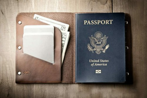 retirement gifts for men passport wallet