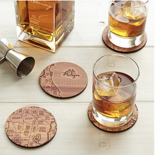 gifts for best friends coaster map