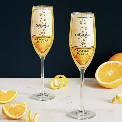 gifts for best friends mimosa glasses