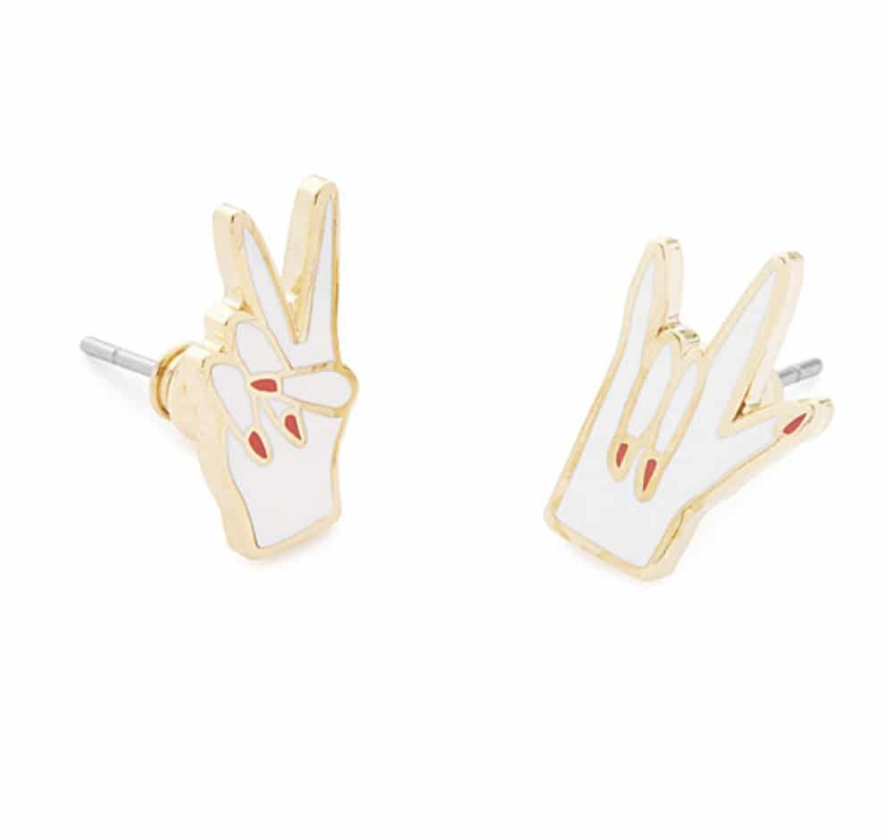 inspirational gifts peace love earrings