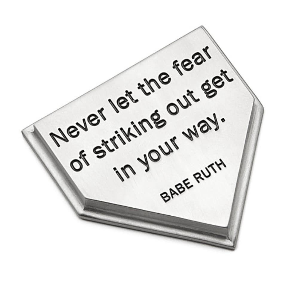 inspirational gifts babe ruth quote