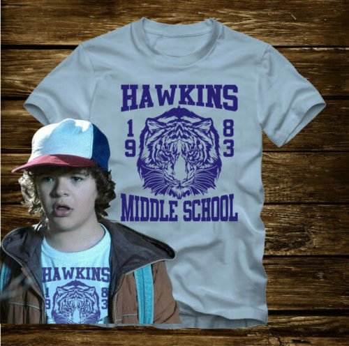 stranger things merchandise hawkins tee