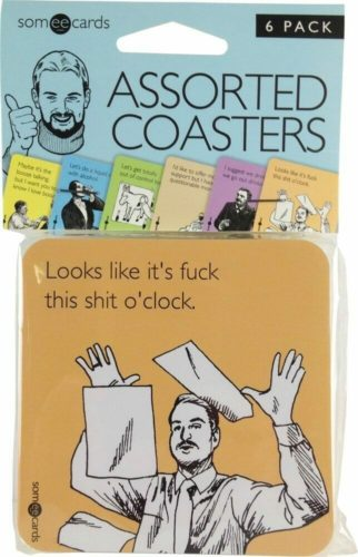 best white elephant gift ideas coaster