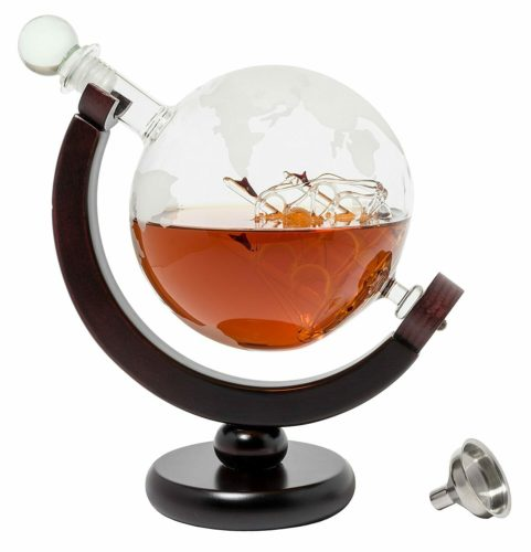 man cave gifts globe decanter