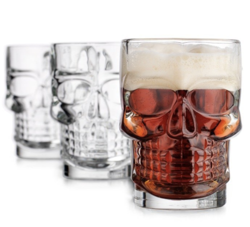 man caves gifts skull glasses