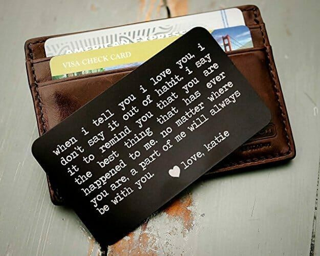 Romantic Gifts For Man Wallet Note