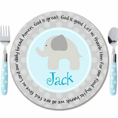 baptism gifts plate