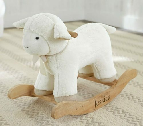 baptism gifts lamb rocker