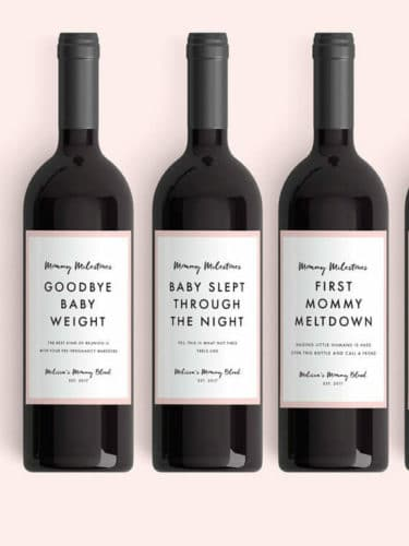 gifts for new moms wine labels