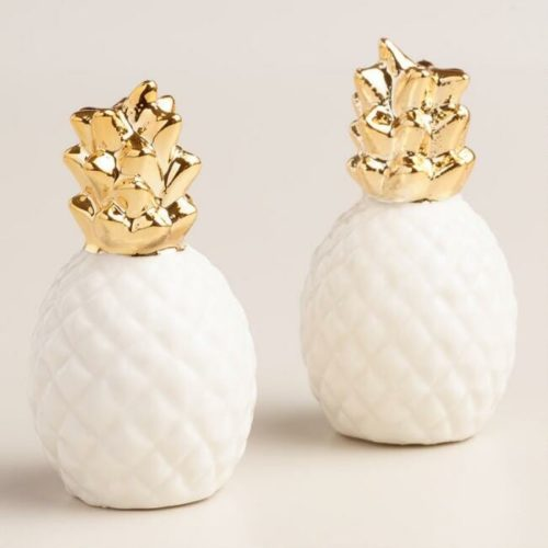 pineapple decor gifts shakers