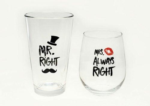 engagement glasses drink glasses