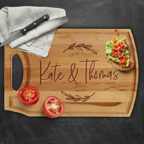 engagement gifts cutting board