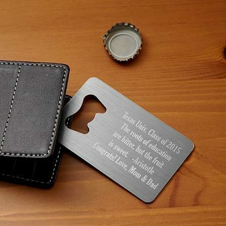 graduation gifts for him wallet bottle opener