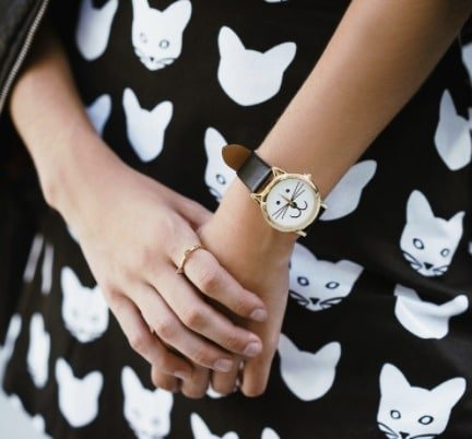 cat jewelry watch
