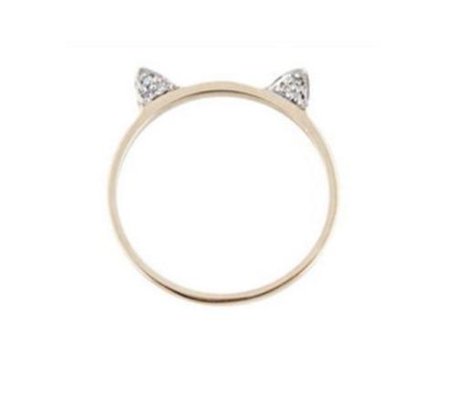 cat jewelry cat ear ring