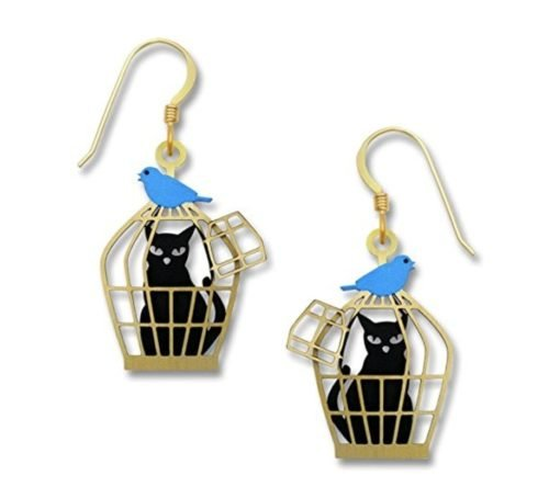 cat jewelry birdcage