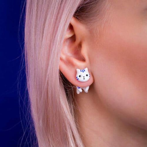 cat jewelry ear jacket