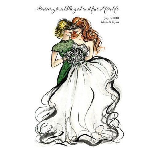 mother of the bride gifts print