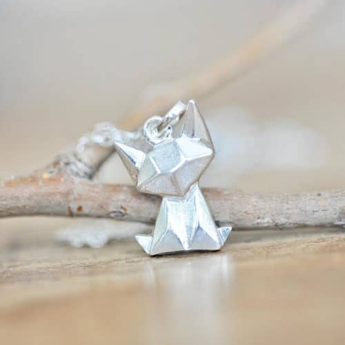 cat jewelry origami necklace