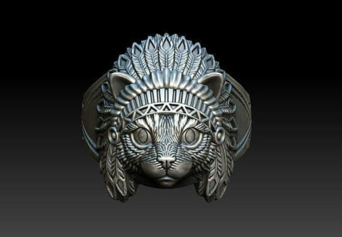 cat jewelry indian ring