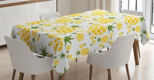 pineapple decor gifts table cloth